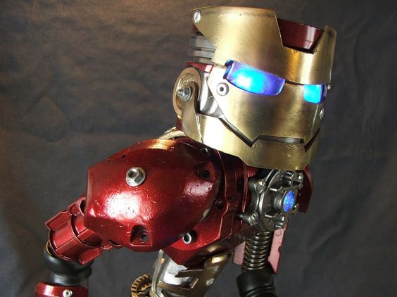 Iron man by Martial Levaillant  #Sculpture #RecycledArt