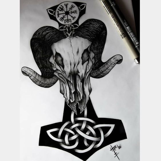 Discover all theviking Tattoo Here vikingtattooart Reposted from @hope.svartraw.art Tanngrisnir! Available for tattoo! Dm if you are interested 🤘 #tanngrisnir #thedarkestwork #nordic #nordictattoo #tattooart #instaart #blackworktattoo #blacktattoo #goat #tattooideas #tattooartist #tattoodesign #illustration #linework #viking #vikingtattoo #norse #norsetattoo #vikings #norsemithology #pagan #norsepagan #norsegods #mjolnir #vegvisir #thor #tanngnjóstr #vikingstyle #blackworkillustrations #blackwo