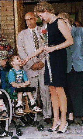 June 16, 1995: HRH Diana, Princess of Wales visits Tushinskaya Hospital in Moscow, Russia.