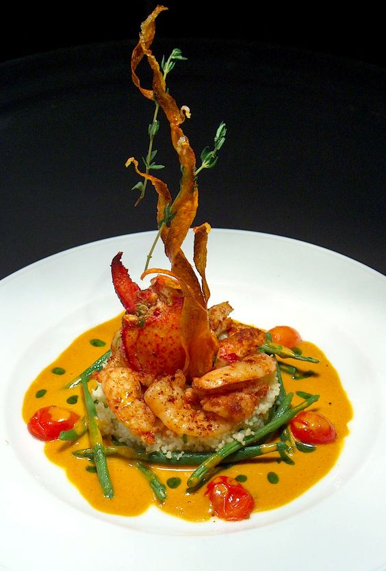 Food Plating Idea Shrimps And Lobster WORLDWIDE