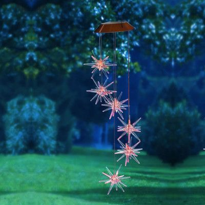 Evergreen Flag & Garden Starburst Solar Mobile Wind Chime