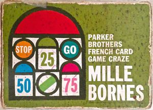 Vintage 1962. Collection. Jeu MILLE BORNES Parker. Français
