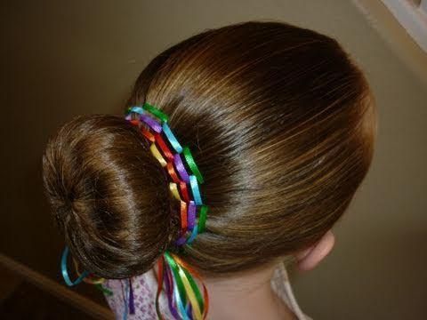 Ribbon Rainbow Bun Video Tutorial