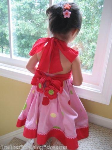 EEUC Lola Et Moi Pink Twirls Girls Couture Dress Fireflies Chasing Dreams Size 6 | eBay