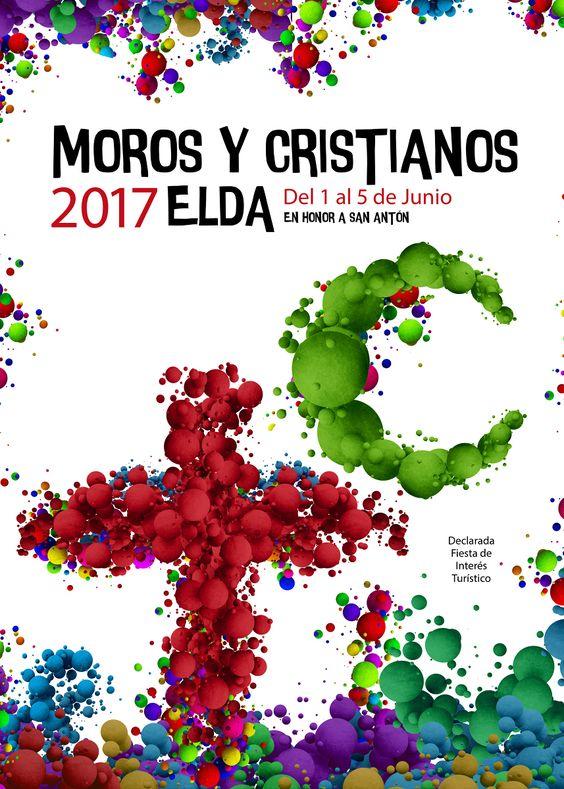 Cartel Finalista a Concurso  Fiestas de Moros y Cristianos de Elda 2017: