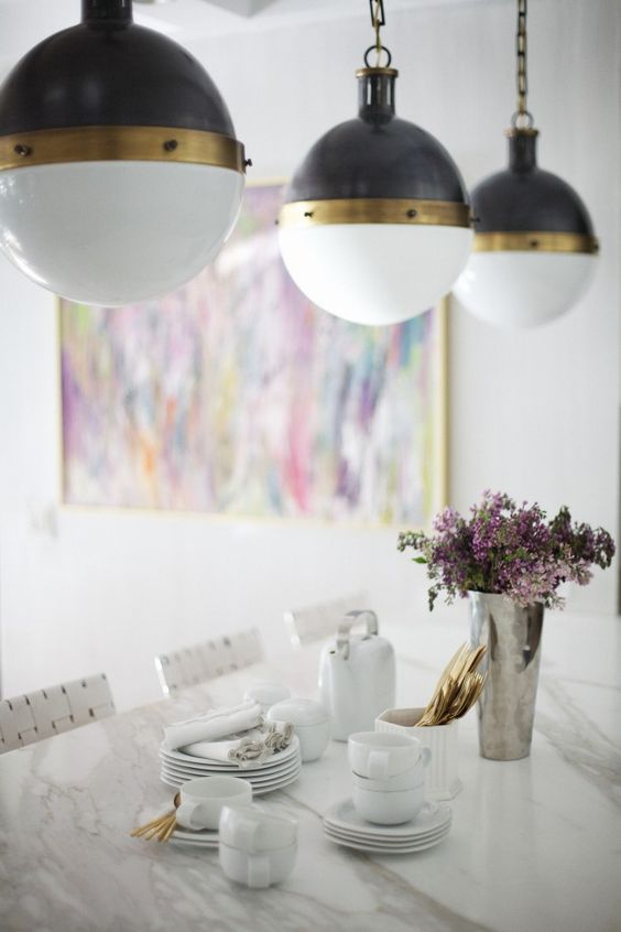 sketch42's dining area - I love the light fixtures