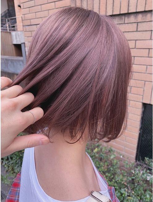 天沼 ケアブリーチ1回 ミルクティーピンク L060227979 ジェノ Jeno のヘアカタログ ホットペッパービューティー ラベンダーヘアー 髪色 ピンク ヘアスタイリング