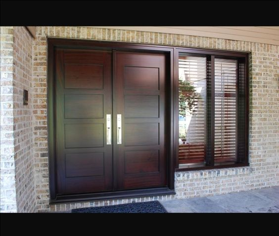 Double entry doors toronto custom wood doors wood for Exterior wood sliding doors