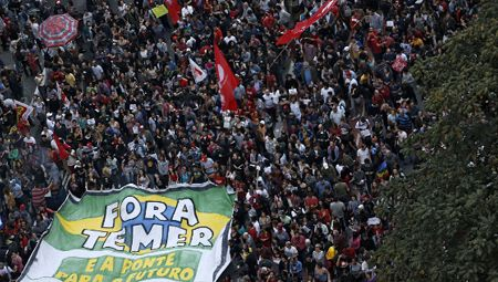 Tens of Thousands of Protesters Demand New Elections in Brazil   President Michel Temer has just succeeded in carrying out a coup against Dilma Rousseff, but we are unlikely to see him concede to public pressure, says Alex Main of the Center for Economic Policy Research