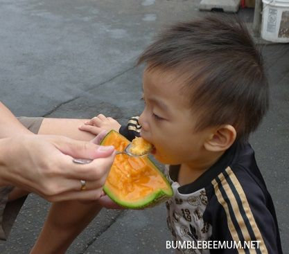 """Take a big bite into a Hokkaido melon and feel the sweet juice bursting into your mouth!  Find out more on my blog post, """"Best Hokkaido Food (by Region)"""". #hokkaido #japan #travel #food #blog #hakodate"""