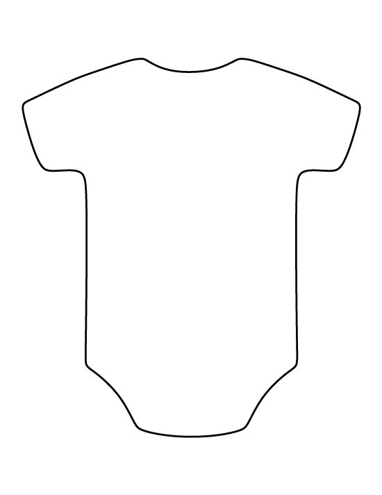 Onesie pattern Use the printable outline for crafts creating – Onesie Template