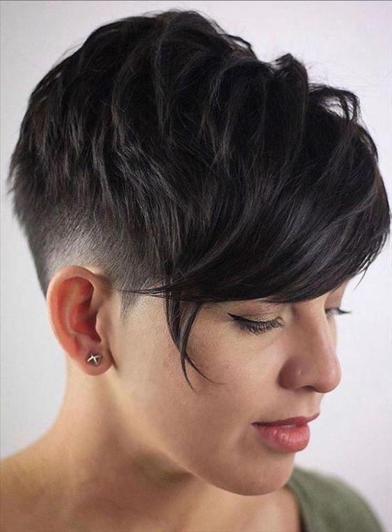 Pin On Short Hair Pixie Asymmetrical Sidecut Undercut Taper Fade