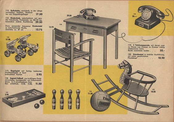1957 Karstadt Prospekt Spielzeug - Seite 14 by diepuppenstubensammlerin, via Flickr