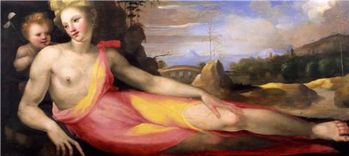 Venus in a landscape, Domenico Beccafumi, 1518