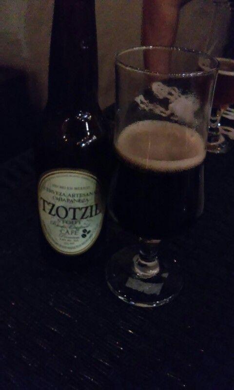 Cerveza artesanal Chiapaneca .. TZOTZIL.. tremendo sabor a café (Pipiripau)