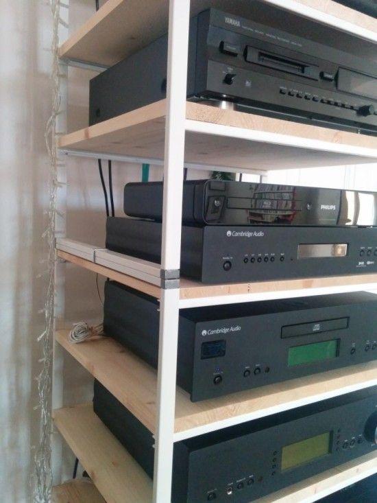 IKEA Antonius multi tiered hi fi rack
