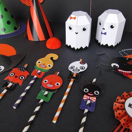 Halloween Party Favor Toys Printable Paper Craft PDF. $5.00, via Etsy.