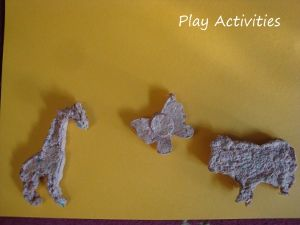 Shaped seeded paper to plant