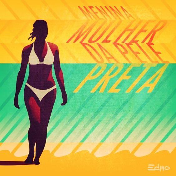 Menina Mulher da Pele Preta #ilustration #woman #jorgebenjor #music