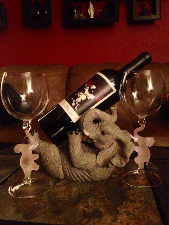 Pinterest the world s catalog of ideas - Elephant wine bottle holder ...