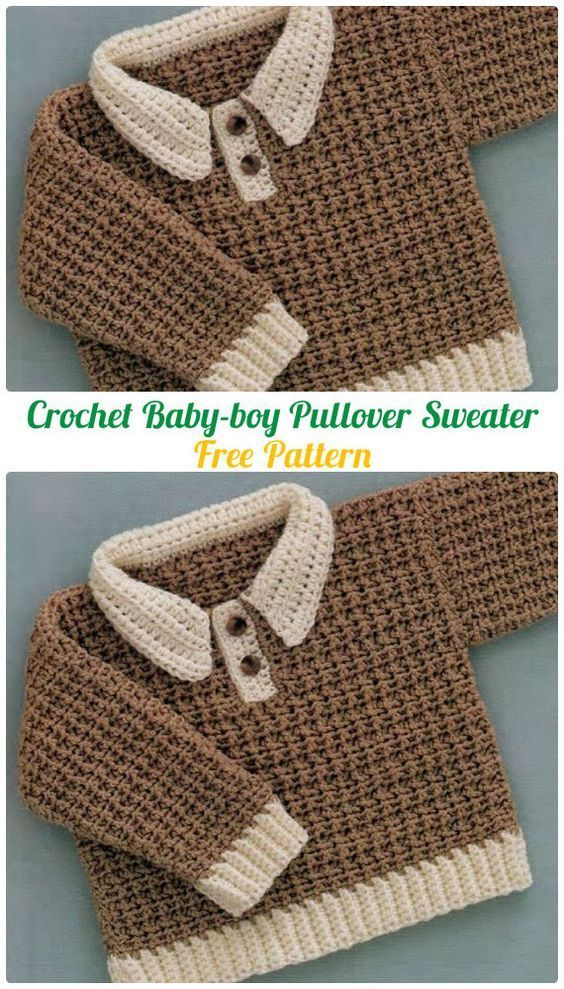 Le Projet Tricot Ideal Pour in 2020 | Baby sweater patterns, Crochet  patterns baby boy, Crochet baby clothes