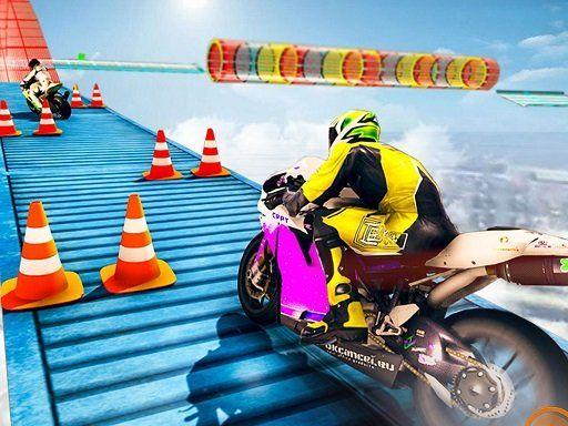 لعبة سائق الدراجة النارية الطريق المستحيل Moto Rider Impossible Track In 2020 Rider Moto Toy Car