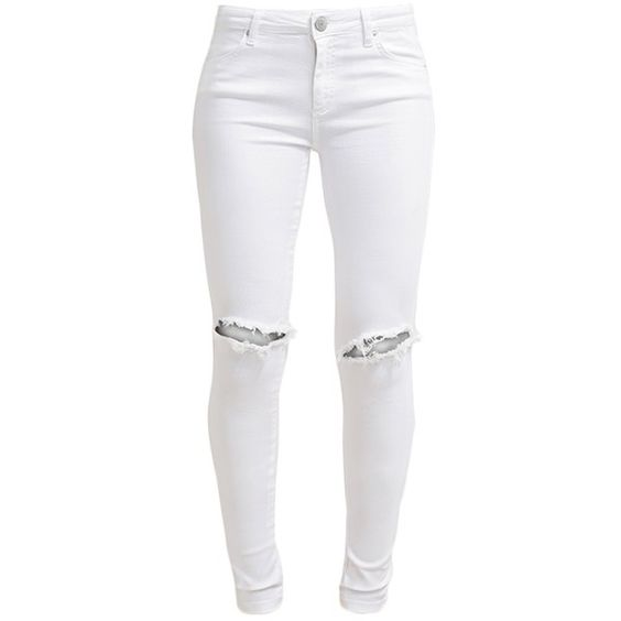 White skinnies, Patterned jeans and Slimming jeans on Pinterest