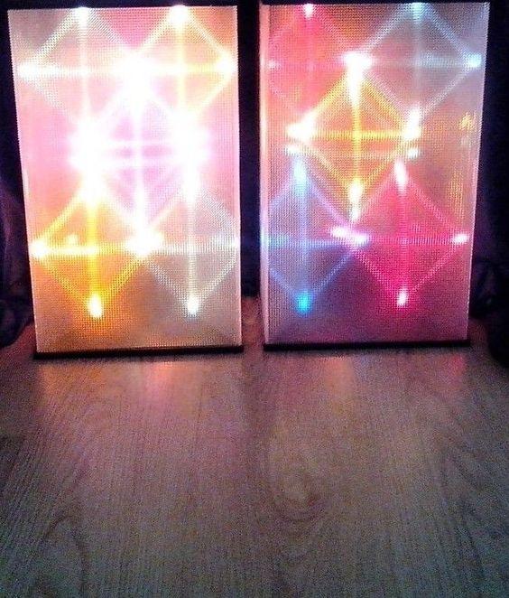 vintage color organ sound sensitive audio modulated disco light