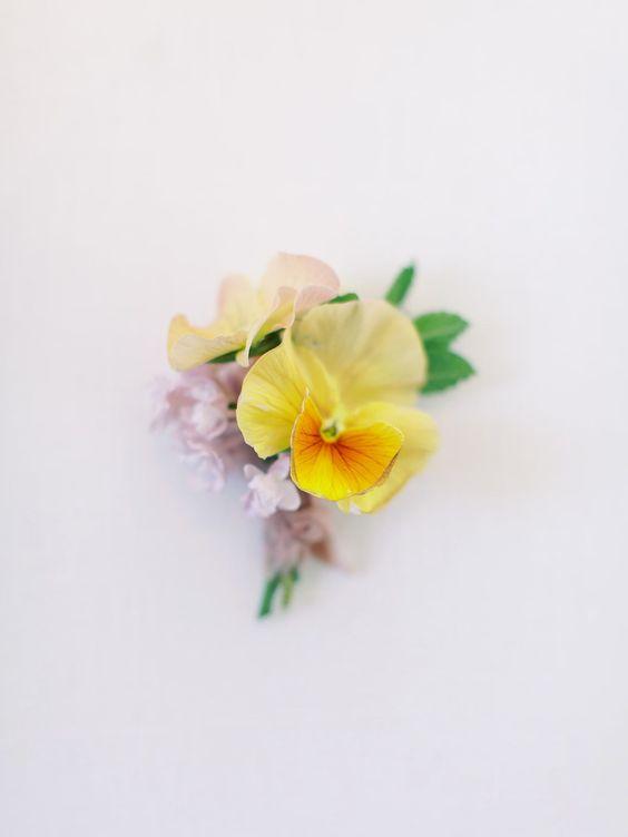 Pansy Boutonniere   Spring Bout   Fine Art Florist   Rachael Ellen Events