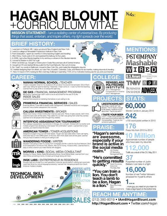 Anatomy of a Great Infographic Resume Career Attraction Like - mission statement for resume