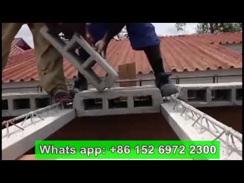 Teach How To Build House Roof By Houdi Hollow Pot Slab Ceiling Beam And Concrete Blocks Faster Youtube In 2020 House Roof Concrete Blocks Building A House