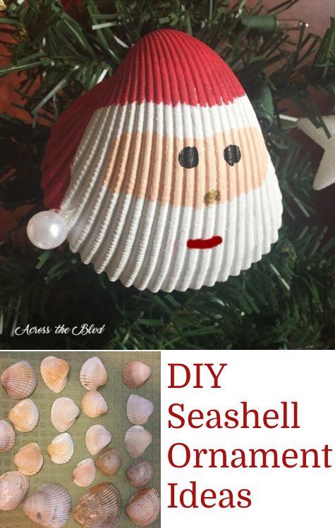 Simple Diy Shell Ornaments Seashell Crafts Diy Christmas Ornaments