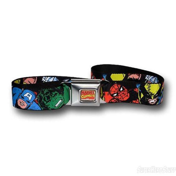 Images of Marvel Heroes Seatbelt Belt