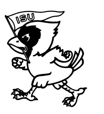 Iowa herky the hawk free coloring pages for Iowa coloring pages