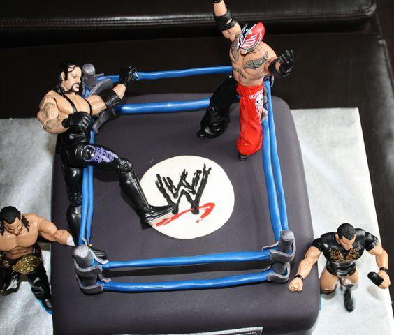 Wrestling Birthday Cake All Fondant I Didn T Make The