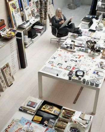 Artist's Loft Studio Interiors in Sweden's Stockholm