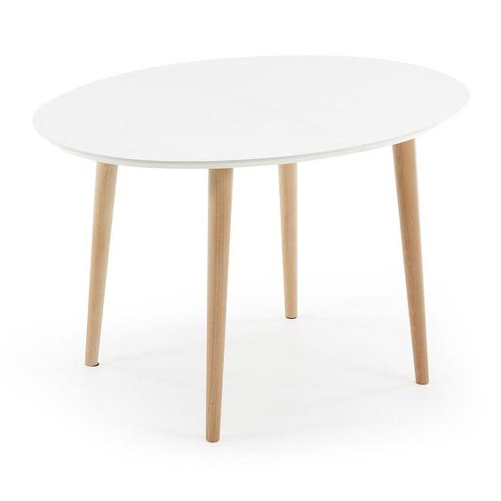 Table Extensible Ovale Blanchetre Meubles Pinterest Table - Table a rallonge fly pour idees de deco de cuisine