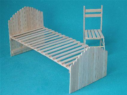Marshfairies Dolls House Club - Make a Dolls House Bed & Chair