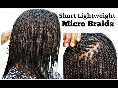 Micro Braids Tutorial On Natural Hair Short And Light Weight Youtube Micro Braids Hair Styles Natural Hair Styles