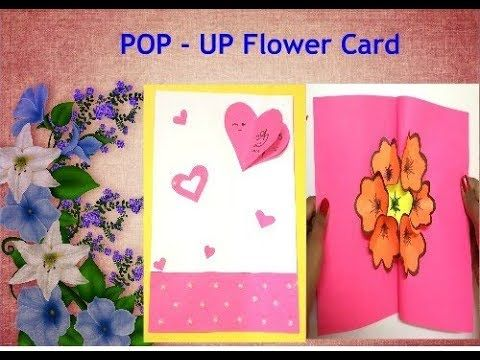 Diy 3d Flower Pop Up Card For Friendship Day Pop Up Card
