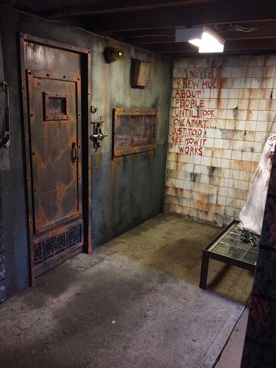Asylum Halloween Photo Area Insane Asylum Hospital Haunt