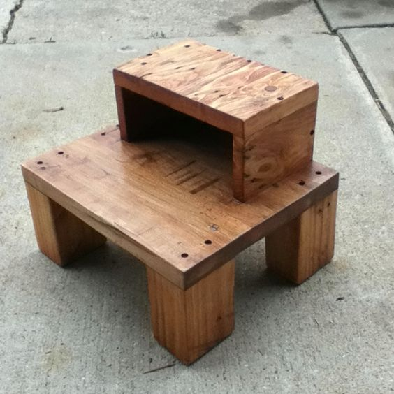 Recycled pallet step stool anderson pallet design for Stools made from pallets
