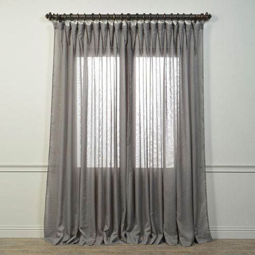 Half Price Drapes Signature Grey 108 X 100 Inch Double Wide Sheer