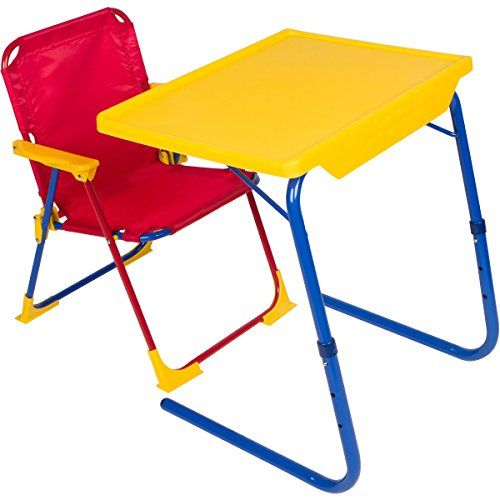 Table Mate 4 Kids Folding Desk And Chair Set For Eating Art Activities For Toddlers And Children Wit In 2020 Desk And Chair Set Art Activities For Toddlers Chair Set