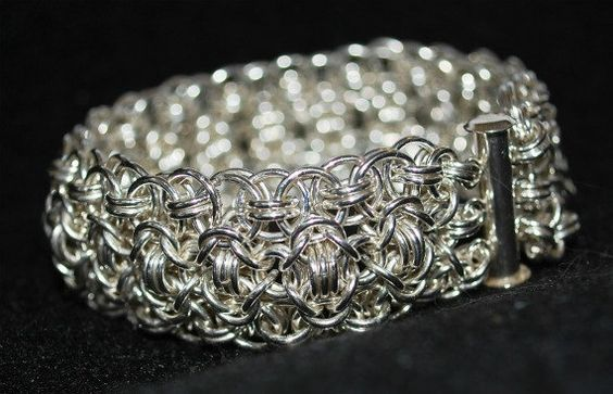 Sterling Silver Chainmaille Bracelet by MarthasManyThings, $200.00