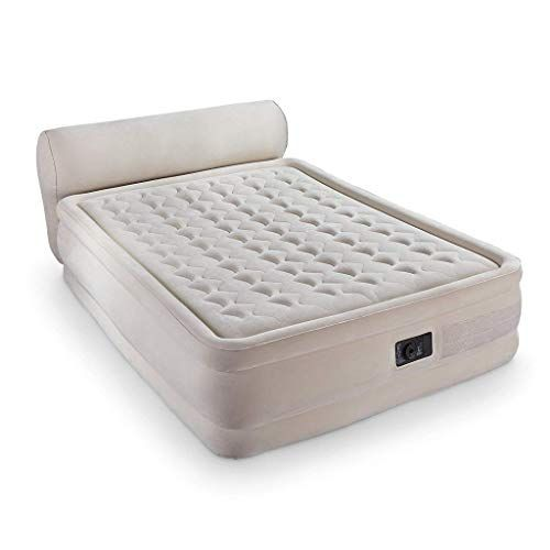 Xiaonua Inflatable Mattress Air Mattress King Air Bed With Built In Pump Headboard Portable Inflatable White 152x79x229 Mattress Air Mattress Air Mattresses
