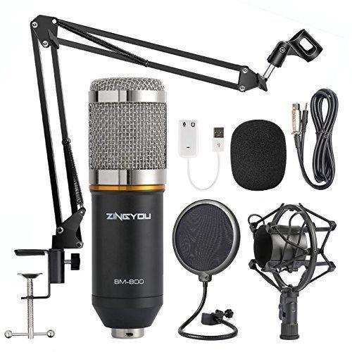Schöne Info Zingyou Kondensatormikrofon Bm 800 Mit Verstellbarem Mikrofonständer Stoßvorrichtung Aus Metall Und Doppelter P Kondensatoren Mikrofon Mikrofone