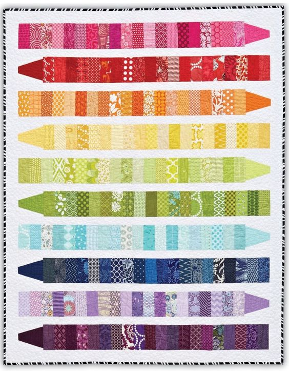 Color Me quilt by Emily Herrick.  It makes a great scrap quilt.: