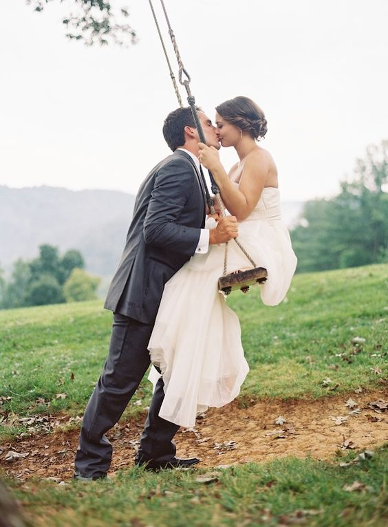perfect swing kiss | Clark Brewer #wedding: