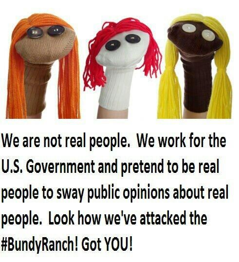 Sock puppets - they are everywhere!